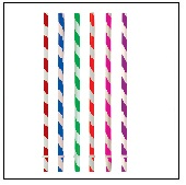 Acrylic Striped Straws