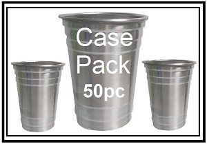 Stainless Steel Party Cup CASE Asst (50 pc/cs)