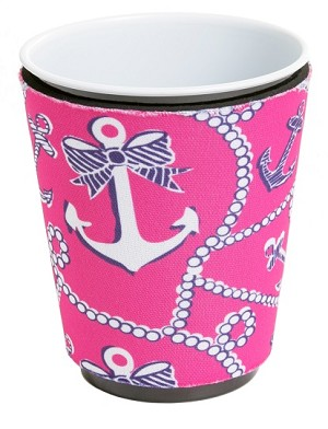 Solo Cup Koozie Anchor Pink