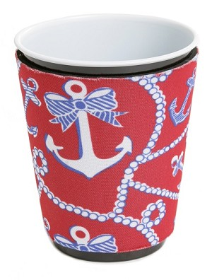 Solo Cup Koozie Anchor Red