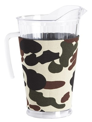"Acrylic Pitcher with SLEEVE Army Camo with ""as-is"" pitcher"