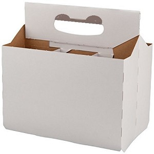 6-pack Cardboard Carrier-WHITE
