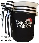 Ice Bucket Cover Black -PRESTITCHED Jingle