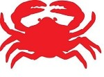 Vinyl Decal Crab Red