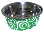 Pet Bowl Swirl Lime Sm