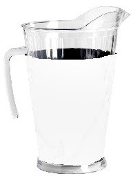 Acrylic Pitcher with SLEEVE White