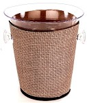 Ice Bucket Cover Jute Tan