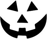 Vinyl Decal Pumpkin Jack-o-Lantern Smile