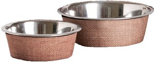 Pet Bowl Jute Tan Small