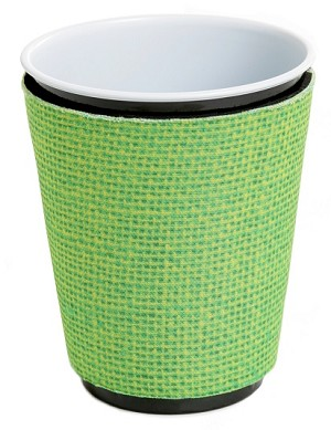 Solo Cup Koozie Faux Jute Lime