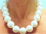 Pearl Stretch Necklace 22mm Bam-Bam