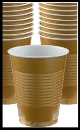 Party Cups Gold (Set of 10)