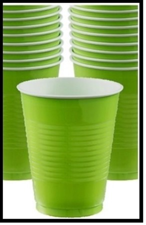 Party Cups Lime (Set of 10)