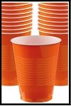 Party Cups Orange (Set of 10)