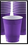 Party Cups Purple (Set of 10)