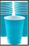 Party Cups Turquoise (Set of 10)