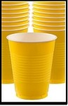 Party Cups Yellow (Set of 10)