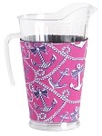 Acrylic Pitcher with SLEEVE Anchor Pearls Pink