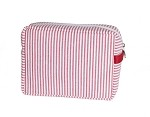 Seersucker Cosmetic Bag-Miranda Red