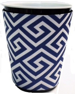 Solo Cup Koozie Greek Key Blue/wh