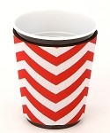 Solo Cup Koozie Chev Red/Wh