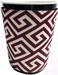 Solo Cup Koozie Greek Key Maroon/wh