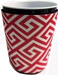 Solo Cup Koozie Greek Key Red/Wh