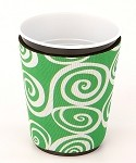 Solo Cup Koozie Swirl Lime/Wh