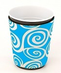 Solo Cup Koozie Swirl Turq/Wh