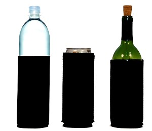 Tall-Can WINE Bottle Koozies Black