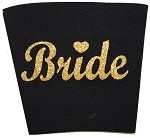 Solo Cup Koozie Black-BRIDE GOLD