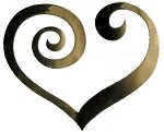 Vinyl Decal Heart Swirl-Gold Mirror