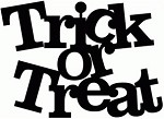Vinyl Decal words Trick or Treat