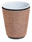 Solo Cup Koozie Faux Jute Natural Tan