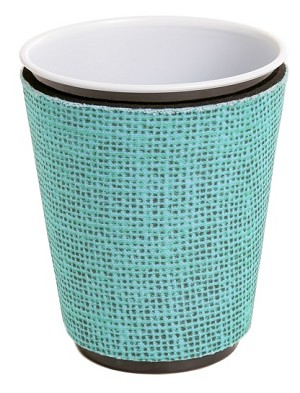 Solo Cup Koozie Faux Jute Turq
