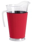 Acrylic Pitcher with SLEEVE Red