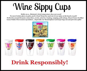 Wine Sippy CASE/pk 1 Color (24 pc/cs)
